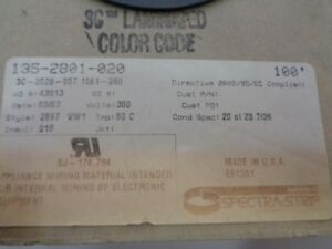 New Spectra strip Amphenol 135 2801 020 Flat Cable 100 20 Conductor
