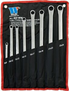 Welzh Werkzeug 8pc Aviation Double Ended Ring Extra Long Spanner Set 8 24mm 809