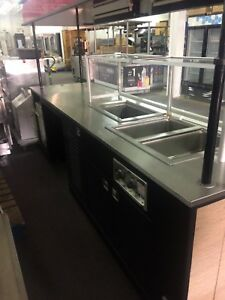 Hot Food Serving Cart With Canopy And Water