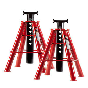 Sunex 1310 10 Ton Medium Height Pin Type Jack Stands pair