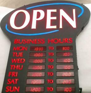Newon Led Lighted open Sign Programmable Business Hours