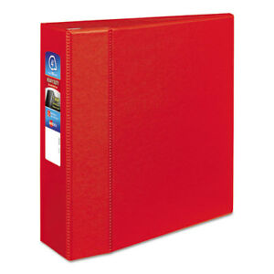 Heavy duty Binder With One Touch Ezd Rings 11 X 8 1 2 4 Capacity Red