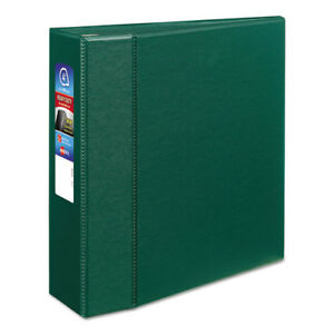 Heavy duty Binder With One Touch Ezd Rings 11 X 8 1 2 4 Capacity Green