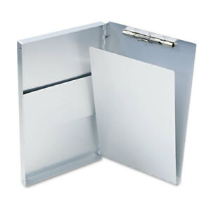 Snapak Aluminum Side open Forms Folder 1 2 Clip 8 1 2 X 14 Sheets Silver