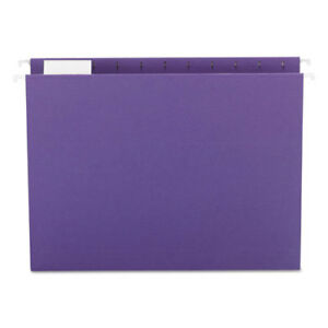 Hanging File Folders 1 5 Tab 11 Point Stock Letter Purple 25 box