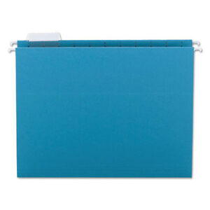 Hanging File Folders 1 5 Tab 11 Point Stock Letter Teal 25 box