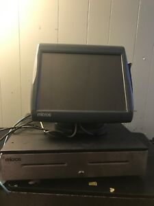 Micros Workstation 5a Touchscreen Pos Complete Printer Cash Drawer 1346076760