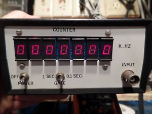 Vintage Heath K hz 7 Digit Frequency Counter Working And Tested