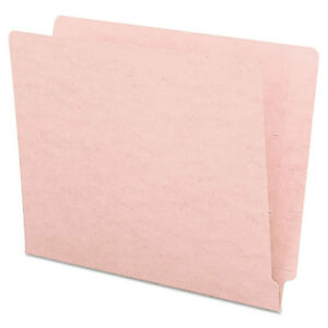 Colored File Folders Straight Cut Reinforced End Tab Letter Pink 100 box