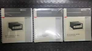 Hp 53131a 132a Complete Manual Set New