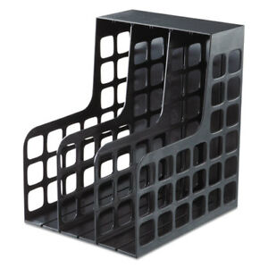 Plastic Magazine File Two Snap in Dividers 9 X 10 5 8 X 12 Black