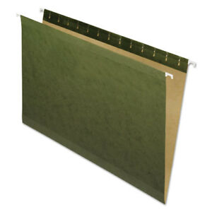 Hanging File Folders No Tabs Legal Standard Green 25 box