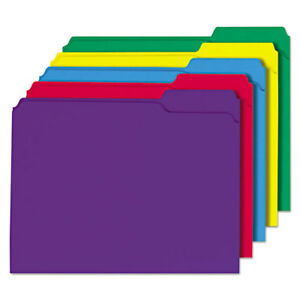 File Folders 1 3 Cut Double ply Top Tab Letter Assorted Colors 100 box