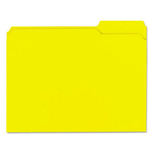 Colored File Folders 1 3 Cut Assorted Two ply Top Tab Letter Yellow 100 box