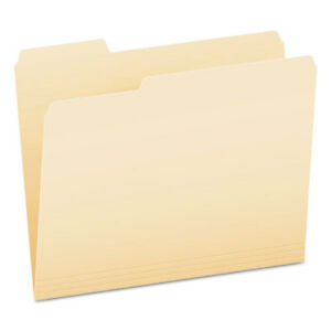 Smart Shield File Folders 1 3 Cut End Tab Letter Manila 100 box
