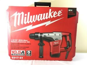 New Milwaukee 5317 21 1 9 16 in Sds max Electric Hammer Drill W Cas fkt001912