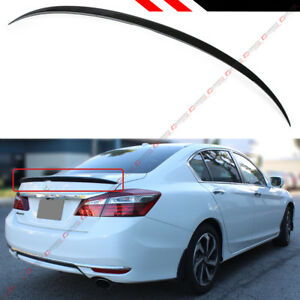 For 2013 2017 Honda Accord 4dr Sedan Painted Black Sport Trunk Lid Spoiler Wing