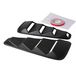 2pcs Quarter Side Window Louvers Scoop Cover Vent For 2005 2014 Ford Mustang Mz