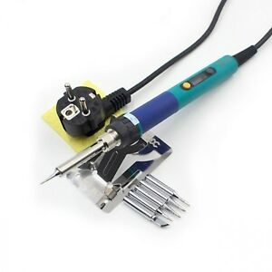 Eu Plug Digital Lcd Adjustable Temperature Electric Soldering Iron String Tip