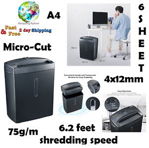 Micro Cut Paper Shredder Thermal Protection Heavy Duty Shredders Office Home New