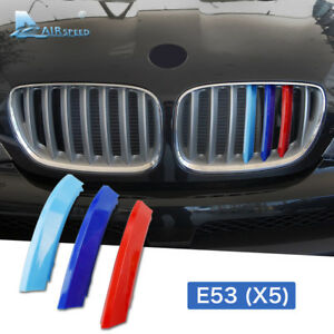 For Bmw X5 E53 2004 2007 Car Front Grille Grill Cover Trim Kidney Grille Clips