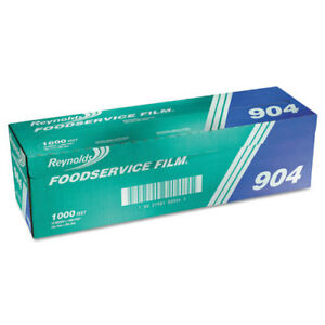 Pvc Film Roll With Cutter Box 18 X 1000 Ft Clear
