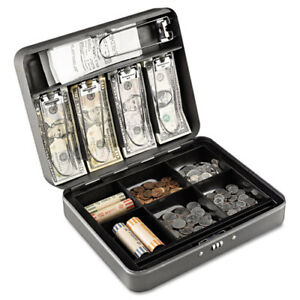 Cash Box W combination Lock Charcoal