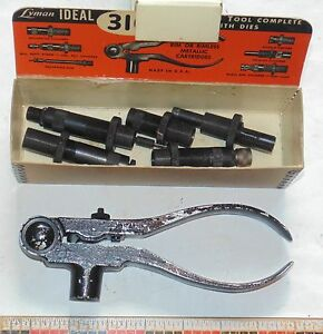 Lyman IDEAL No. 310 RELOADING TOOL complete with DIES  243 & 244 - original box