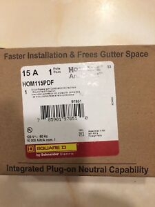 Homeline Square D 15amp Combination Arc Fault Gfi Breakers Brand New Lot Of 5