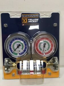 Yellow Jacket Gauge Set 2 Valve Manifold R12 R22 R502 Brand New