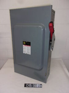 Square D 600 Volt 200 Amp Non Fused Disconnect Safety Switch dis3695