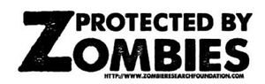 Zombie Sticker Decal Funny Bumper Decal Protected By Zombies 747