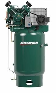 Champion Advantage 15 Hp Air Compressor Two Stage W Acac 120gal