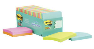Post it Super Sticky Notes 3 X 3 Inches Miami Colors 24 Pads With 70 Sheets