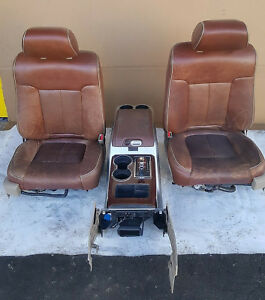 2009 2014 Ford F 150 A c Heated Cooled Tan King Ranch Leather Seats W Console