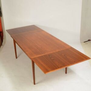 Danish Modern Mid Century Modern L F Mobler Teak Dining Table Fully Refinished