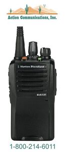New Vertex standard Evx 531 Vhf 134 174 Mhz 5 Watt 32 Channel Two Way Radio