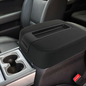 Black Center Console Lid Armrest Cover Replaces For 2007 2014 Silverado sierra