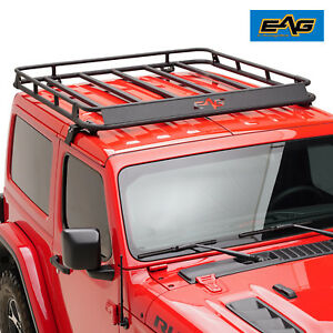 Eag Roof Rack Cargo Basket For 2007 2019 Jeep Wrangler Jk jl 2 4 Door