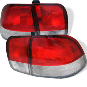 Spyder Red Clear Euro Tail Lights For Honda Civic 96 98 4dr 5005052