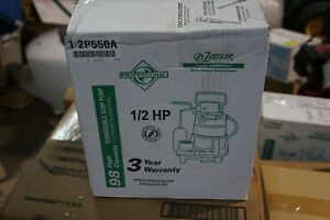 Zoeller 1 2 Hp Submersible Sump Pump Vertical Switch Type Cast Iron Base Mater