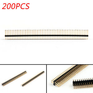 200pcs Copper 2x50pin 1 27mm Pitch Male Single Row Needle Straight Pin Header Ua