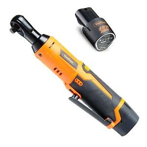 Powerful Cordless Electric Ratchet Wrench Set With 12v Lithium Ion Battery