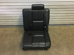 2007 2014 Tahoe Suburban Escalade 3rd Row Seat Black Leather Driver Side