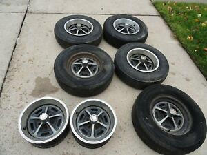 Magnum 500 Wheels Mopar Dodge Ford Mustang 5 X 4 5 14 X 6 Set Of 7