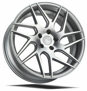 18x8 Aodhan Ls008 5x100 35 Silver Machined Face Wheels Set Of 4
