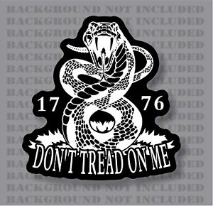 Don T Tread On Me Rattlesnake Liberty Gadsden 1776 American Flag Decal Sticker