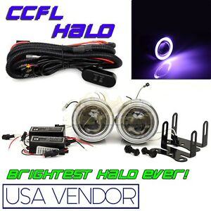 For Toyota 3 Purple Ccfl Halo Projector Fog Lights Dual Switch Hid Compatible