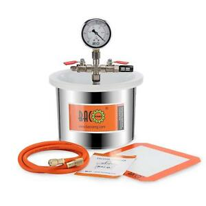 Bacoeng 1 5 Gallon Stainless Vacuum Chamber Silicone Kit For Degassing Resins