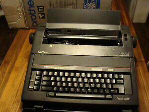 Brother Ax 24 Typewriter Electronic Word Spell Tested Extras Included